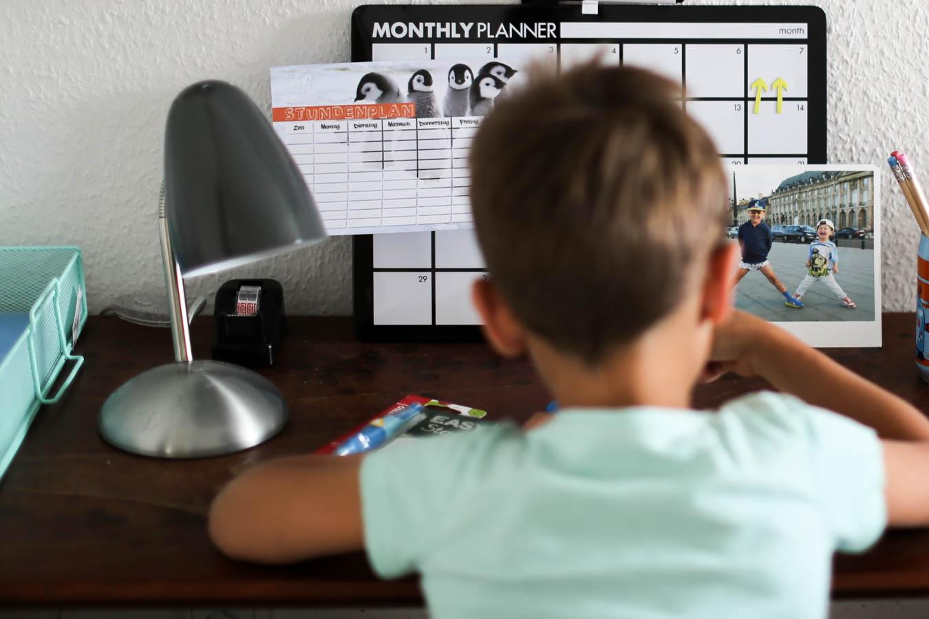 Schreibtisch für den Schulstart
