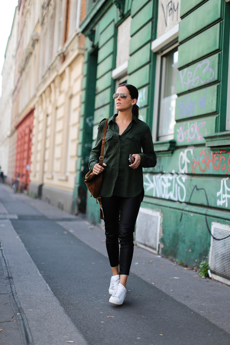 Kunstlederhose Zara