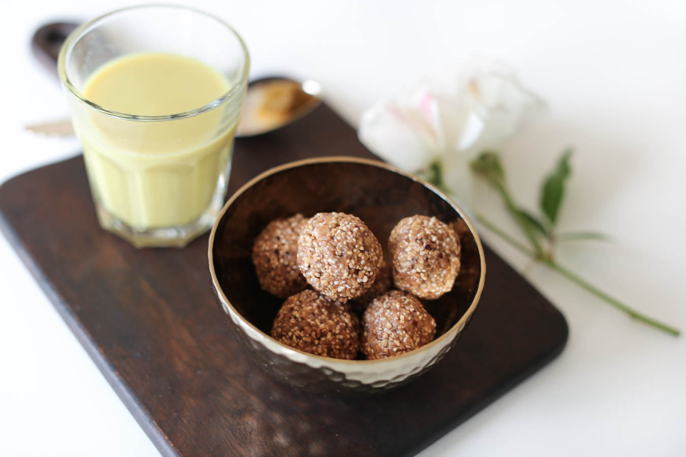 #Rezept | vegan Superfoods ♡ Golden Milk + Energy Balls Nut Vanilla.