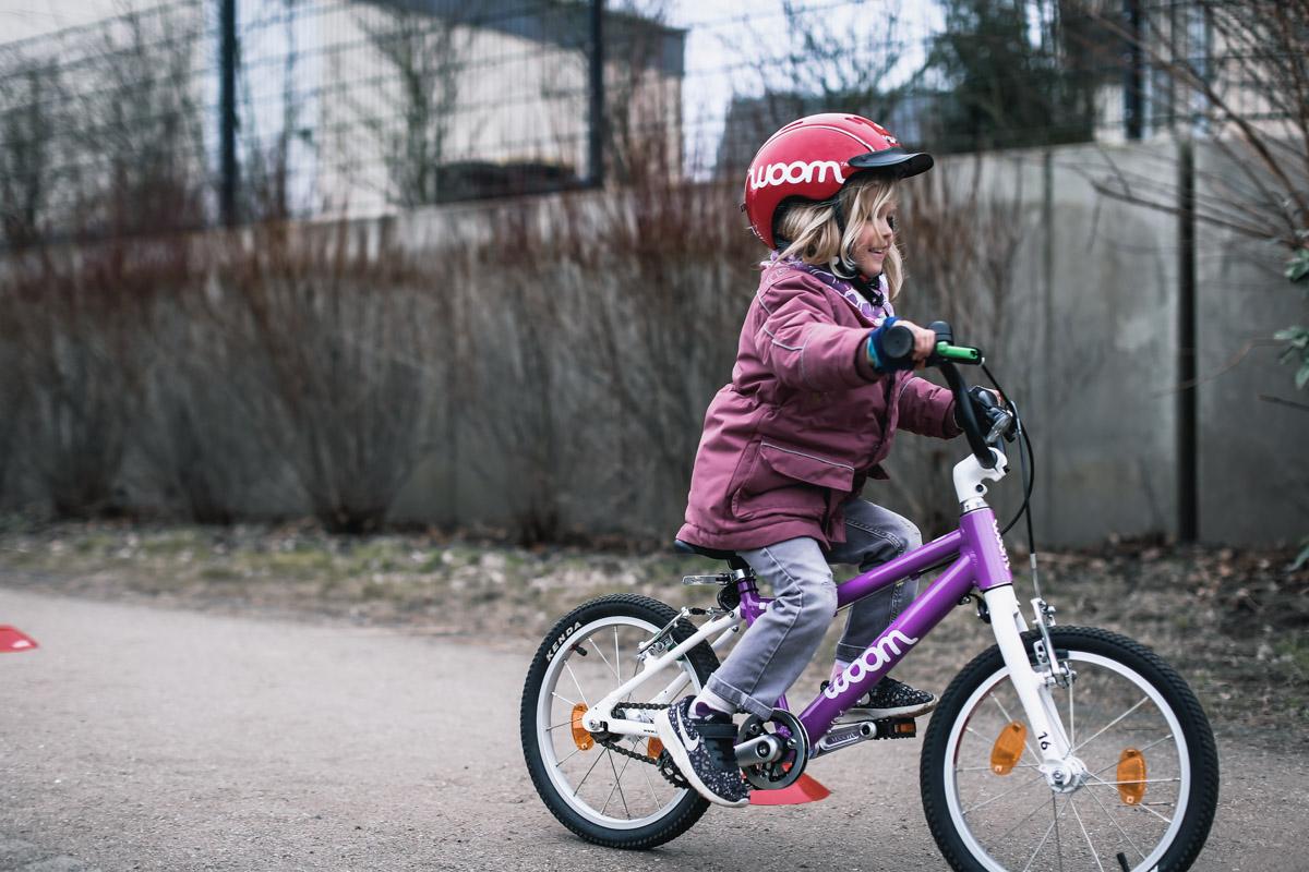 Frühlingstemperaturen und ab auf's Bike! Fahrradtraining für Kinder.