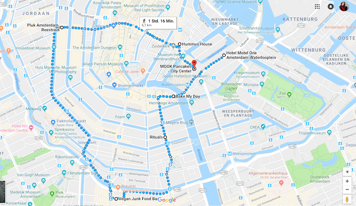 Route Amsterdam / Reisebericht