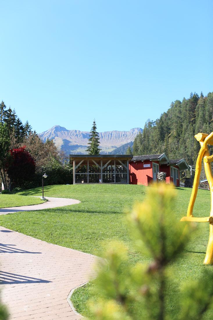 Außenbereich im Familienparadies Sporthotel Achensee