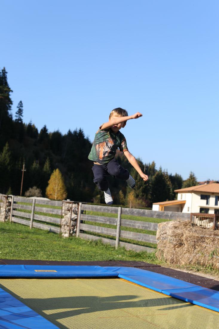 Trampolin im Familienparadies Sporthotel Achensee