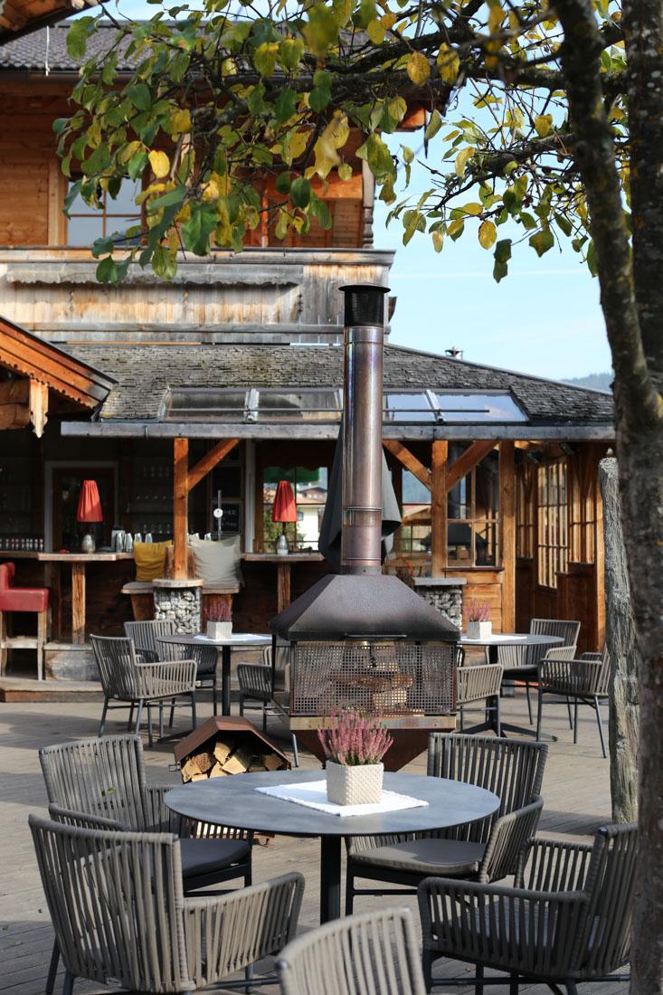 Terrasse im Familienparadies Sporthotel Achensee