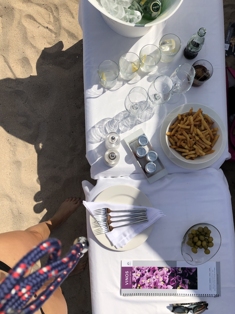 Lunch im Cala Bassa Beach Club (CBbC)