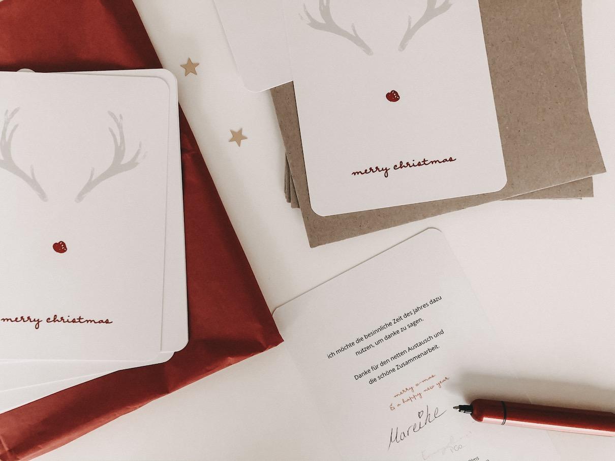 Weihnachtskarten Kunden