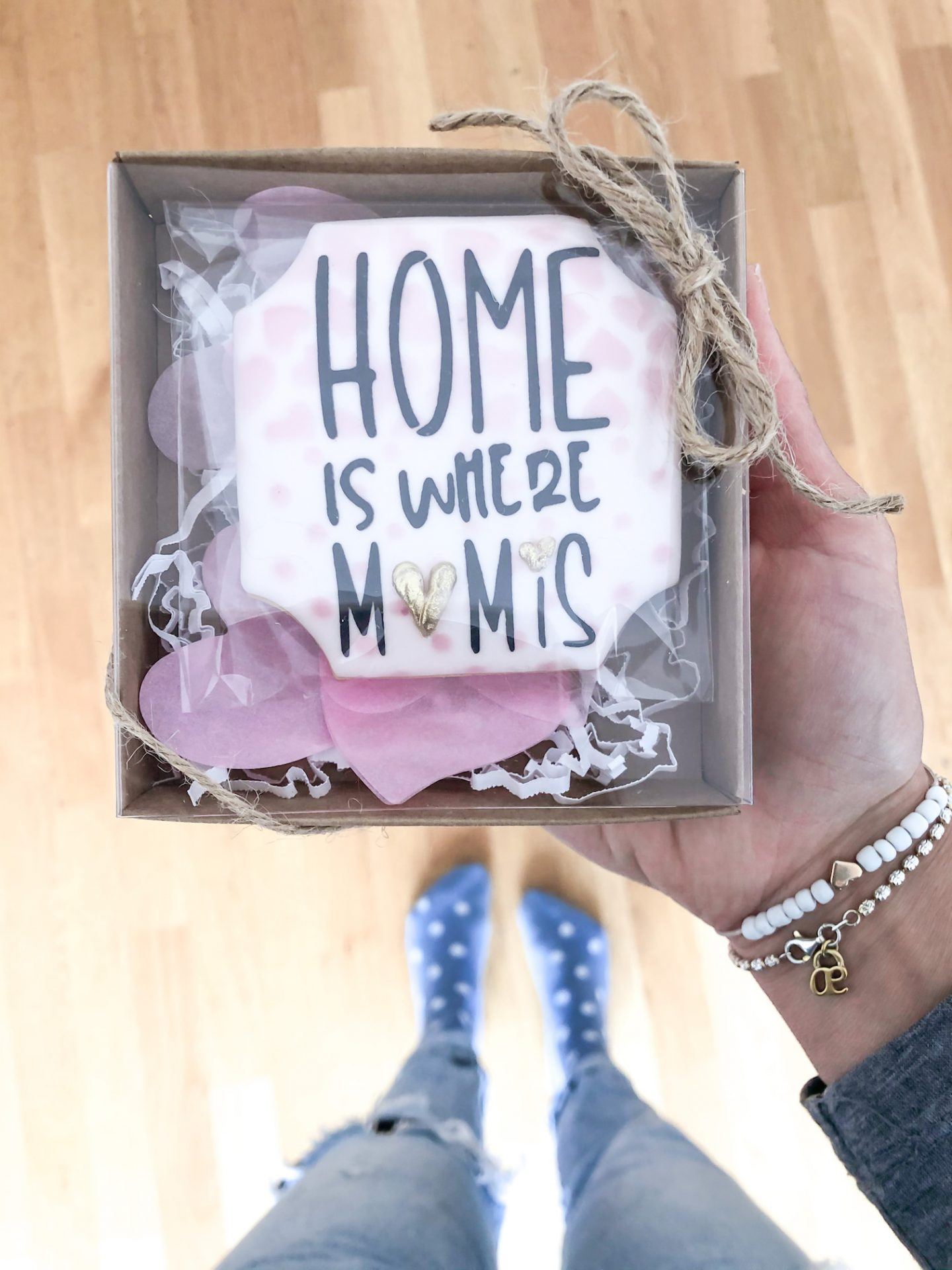 Individueller Keks zum Muttertag mit Home is where Mom is