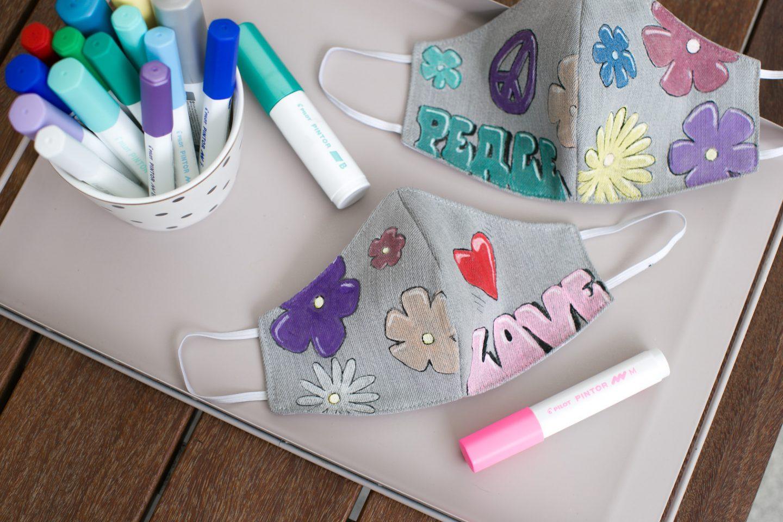 LOVE & PEACE. DIY Me & MINI-Me Masken mit Pilot Pintor.